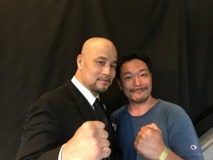 VIPのセキュリティーには元WBF世界クルーザー級王者の西島洋介山さん